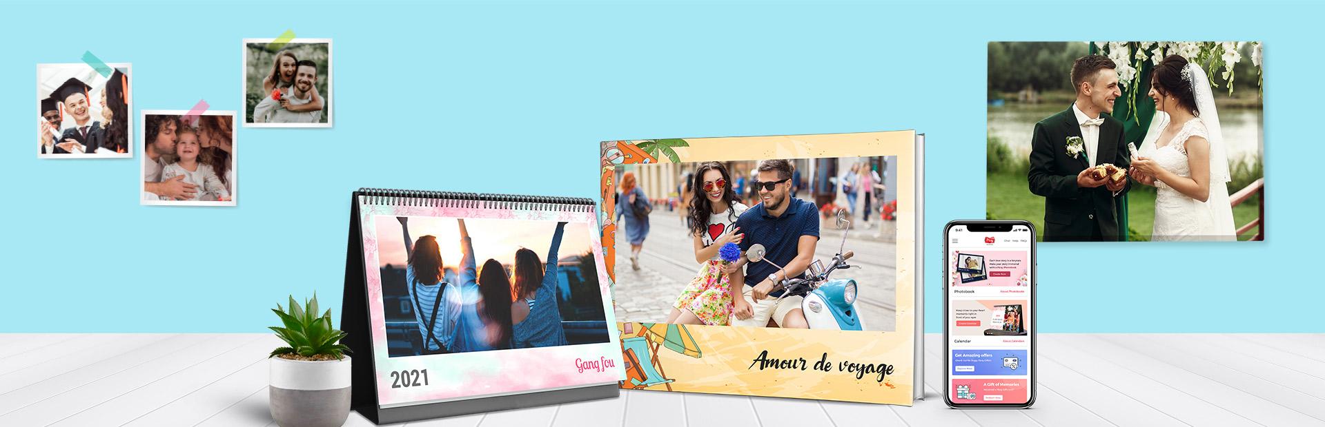 Cadeaux photo Picsy - Livre photo, calendrier photo, tirages photo