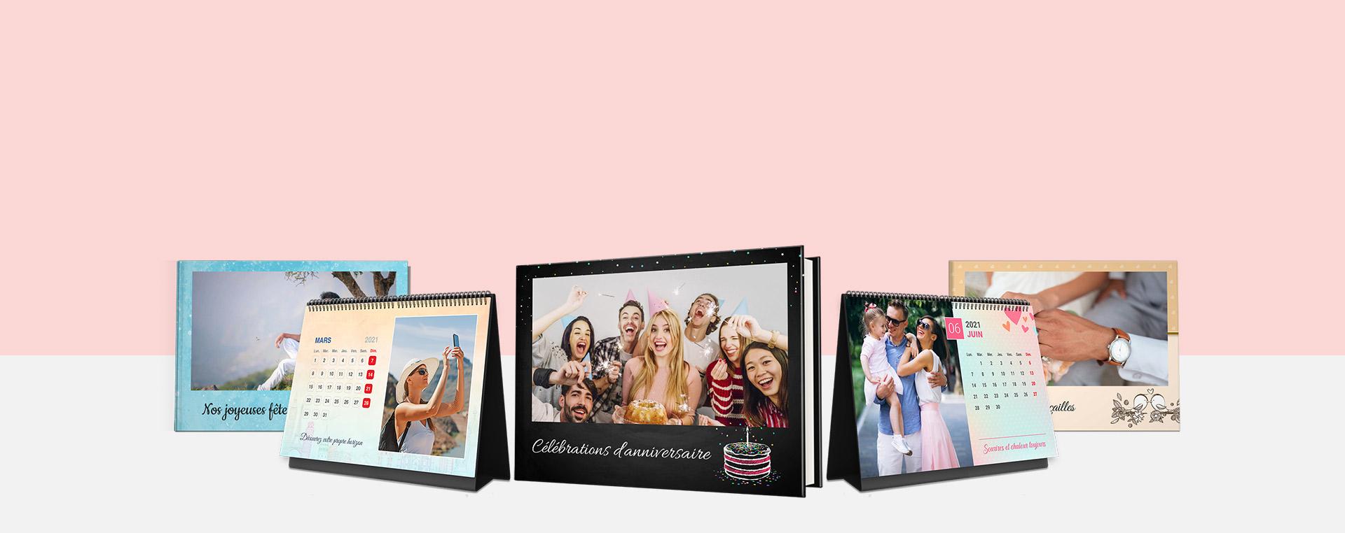 Livres photo et albums photo, Calendriers photo en ligne - Picsy