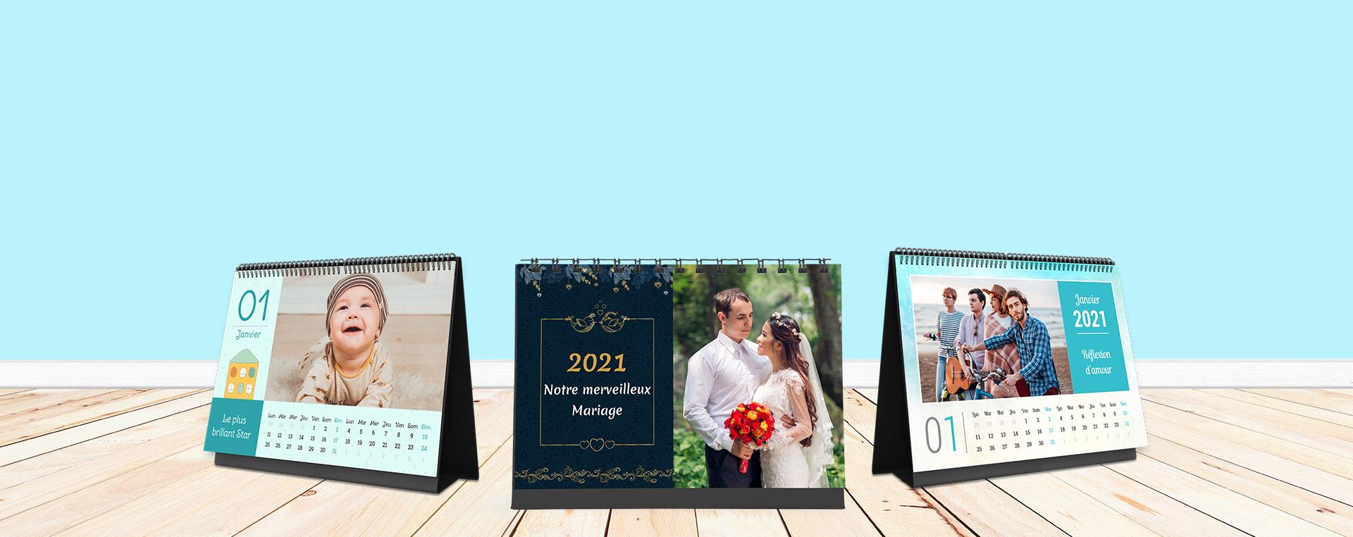 Créez vos propres calendriers photo en ligne - Picsy