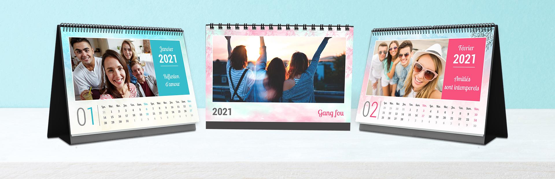 Impression de calendrier photo des liens d'amitié en ligne