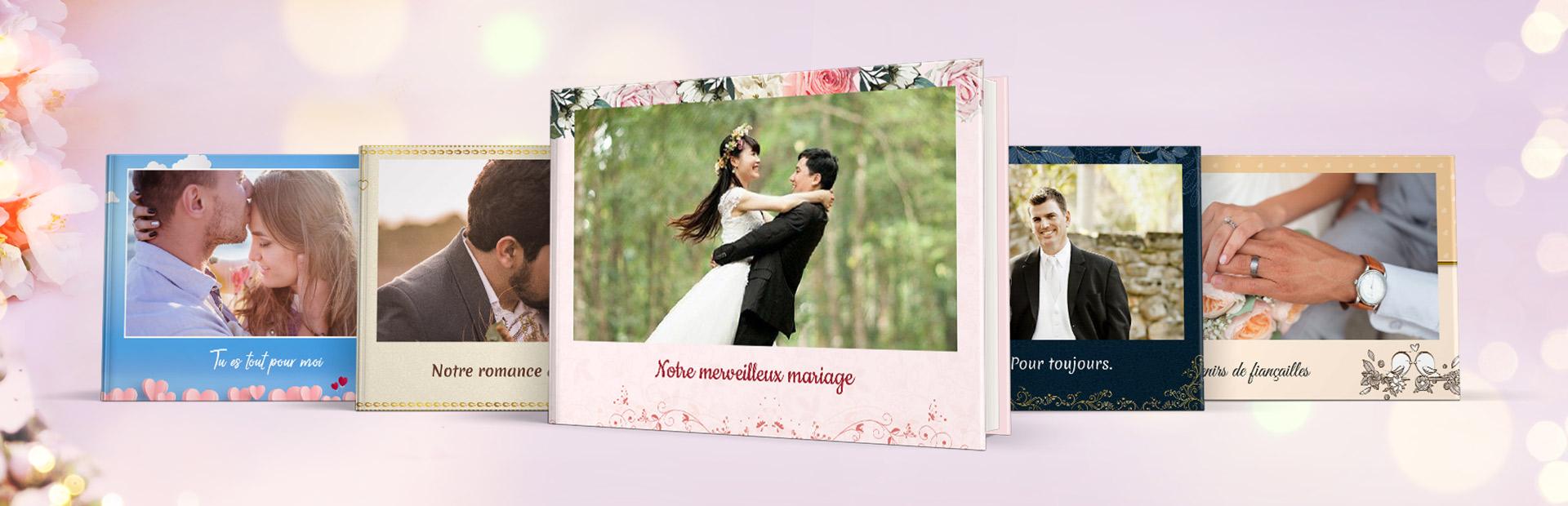 Thèmes de livre photo spécial mariage