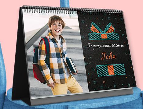 Impression de calendrier photo d'anniversaire - Picsy
