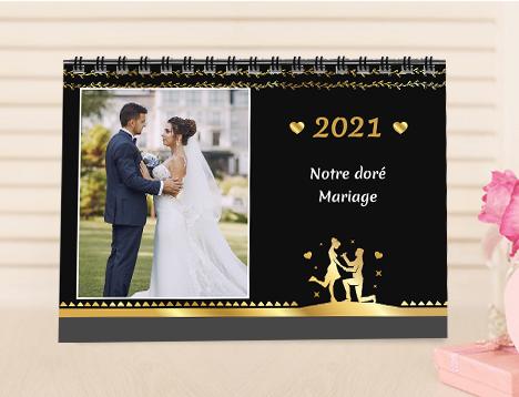 Calendrier photo de mariage - Picsy