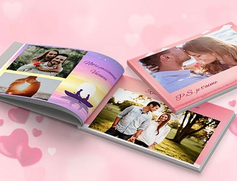 Impression de livres photo d'amour - Picsy