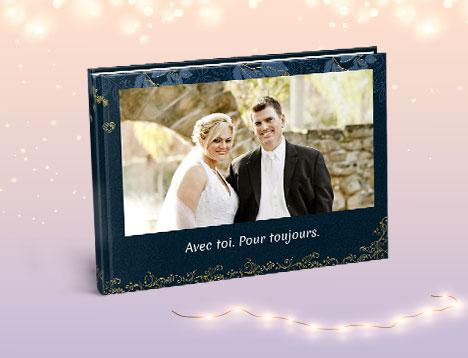 Impression de livre photo de mariage - Picsy