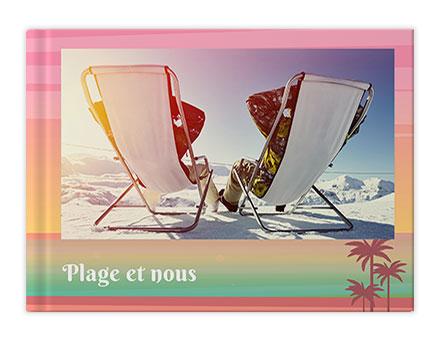Impression de livre photo de vacances à la plage