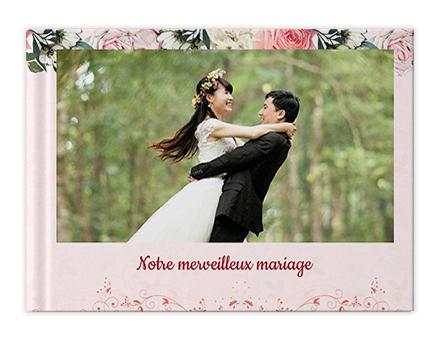 Impression de livre photo de mariage doré
