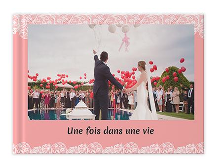 Impression de livre photo romantique de mariage