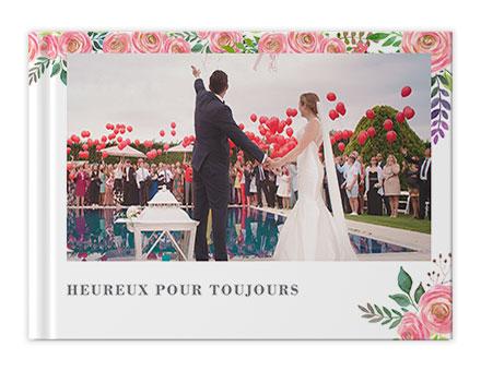 Impression de livre photo de mariage classique